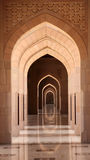 Archway in Grand Mosque, Oman Stock Photos