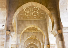 Archway at Hassan II mosque - Casablanca Royalty Free Stock Photography