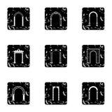 Archway ikony ustawiać, grunge styl Fotografia Royalty Free