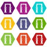 Archway ikony ustawiają 9 wektor Zdjęcie Royalty Free