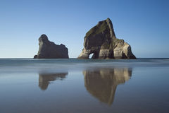 Archway Islands near Wharariki Beach, New Zealand Royalty Free Stock Photos