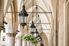 Archway in Krakow. Archway at the cloth halls in Krakow royalty free stock image