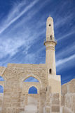 Archway and a minaret of Khamis mosque, Bahrain Royalty Free Stock Photo