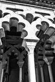 Archway at Moorish castle in Malaga Spain Royalty Free Stock Photography