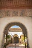Archway at Moorish castle in Malaga Spain Stock Photography