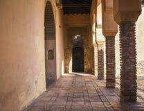 Archway at Moorish castle in Malaga Spain Royalty Free Stock Photo