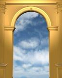 archway niebo błękitny złoty Zdjęcie Royalty Free
