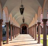 Archway of the Old Pima County Courthouse in Tucson royalty free stock photos