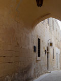 Archway over road in Malta Royalty Free Stock Image