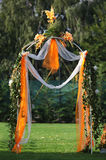 Archway para o casamento fotografia de stock royalty free
