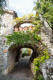 Archway and paths in france Stock Photos