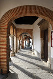Archway of the Plaza Chica, Small Square, Zafra, province of Badajoz, Extremadura, Spain Royalty Free Stock Photography