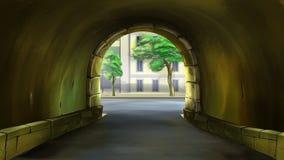 Archway podwórze Zdjęcie Royalty Free
