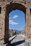 Archway, Pompeii Archaeological Site, nr Mount Vesuvius, Italy Stock Photos