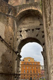 Archway of the Roman Coliseum in Rome, Lazio, Italy. Royalty Free Stock Photo