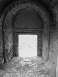Archway in ruins of Corinth, Greece Stock Images