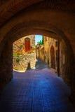 Archway in San Gimignano, Italy Royalty Free Stock Photo