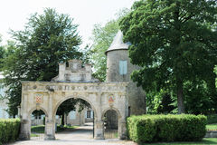 Archway in some gardens. In a French Town Royalty Free Stock Photos