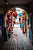 Archway in the souks of Essaouira Stock Photos