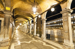 Archway in St Marco square, Venice, Italy. Stock Photo