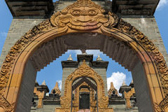 Archway and stairs at Chedi Hin Sai, a complex of sandstone stupas resembling Borobudur at Wat Pa Kung Temple, Roi Et, Thailand Stock Photo