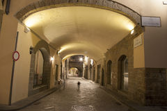 Archway of Street off Via dei Georgofili Street, Florence Stock Photos