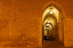 Archway in Tallinn Town Hall at Night Royalty Free Stock Photo
