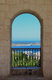 Archway to the mediterranean - Malta Stock Image