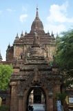 Archway to temple in bagan on a bluebird day. Archway to temples in bagan on a bluebird day Burma Stock Images