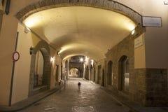 Archway ulica daleko Przez dei Georgofili ulicy, Florencja Zdjęcia Stock