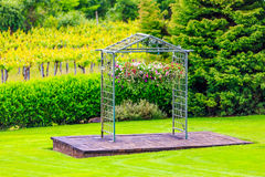 Archway for Vineyard Wedding Stock Photography