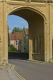 Archway at Wells Cathedral, Somerset, England Royalty Free Stock Photo