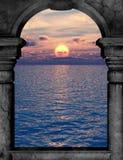 Archway widok na ocean Obraz Royalty Free