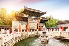 Xi`an ancient archway stock image