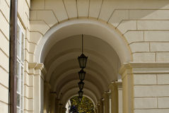 Archway z światłami Obrazy Stock