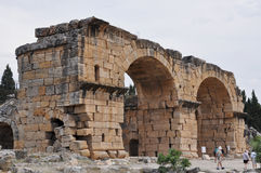 Archways at Ancient Greco-Roman and Byzantine city of  Hierapolis Stock Images