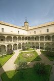 Archways, center garden and courtyard, Toledo, Spain Royalty Free Stock Photo
