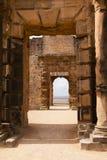 Archways del castello di Bolsover, Derbyshire Fotografia Stock