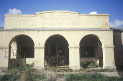 The archways of a deserted school, CA Royalty Free Stock Photo