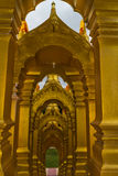 The archways of gold pagoda Royalty Free Stock Photography