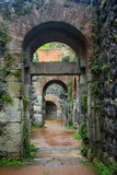 Archways at Kaiserswerth Castle Ruin, Duesseldorf, Germany Stock Photos