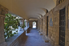 Archways at the monastery of filerimos Royalty Free Stock Photography