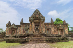 The archways of Mueang Tam Stone Castle Stock Photo