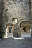 Archways in the Old City Wall at Dinan, Brittany, France Royalty Free Stock Image