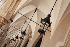 Archways under Cloth Hall, Krakow Stock Image