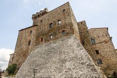 Arcidosso城堡  库存图片