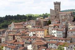 Arcidosso (Tuscany, Italien) Arkivfoton