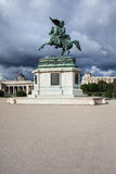 Arciduca Charles del monumento dell'Austria a Vienna Immagini Stock