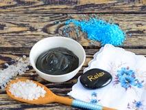 Arcilla curativa negra Imagen de archivo libre de regalías