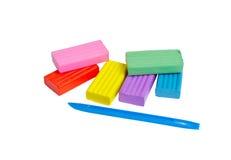 Arcilla de modelado multicolora Fotografía de archivo libre de regalías